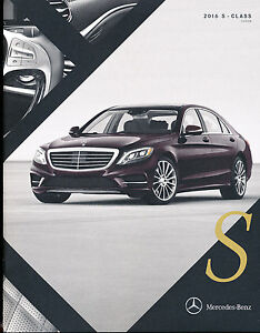 2016 mercedes benz s class 30 page car brochure catalog for Mercedes benz s550 accessories