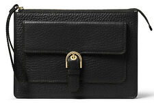 NWT Michael Kors Cooper Medium Wristlet Wallet BLACK Leather $148 32H6GPCW2L