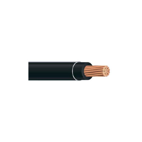 250' 6 AWG THHN THWN Black Copper Conductor Building Wire USA 600 Volts Cable