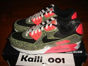 Details about Nike Air Max 1 ID Size 9 Snakeskin Atmos Cement Pink Powerwall BRS B