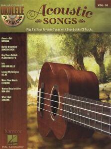 Acoustic Songs Ukulele Play-along Corde & Mélodie Répertoire Music Book/cd-afficher Le Titre D'origine Facile à RéParer