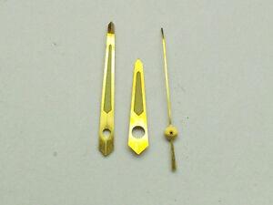 N.O.S. GENUINE BULOVA ACCUTRON SET OF 3 GOLD HANDS 214,218 ASTRONAUT M6