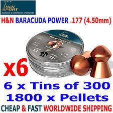 H&N BARACUDA POWER .177 4.50mm Airgun Pellets 6(tins)x300pcs HUNTING & FT