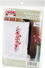 Floral Fantasy Tobin Stamped Pillowcases 20 x 30 Embroidery Kit