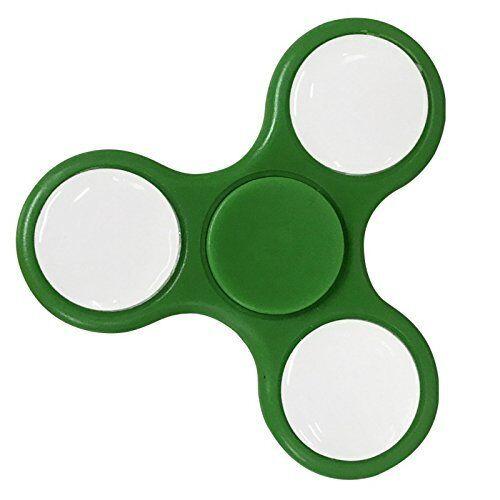 LED Green Flashing Hand Spinner Finger Toy Light Up Fidget EDC Stress ADHD Cube
