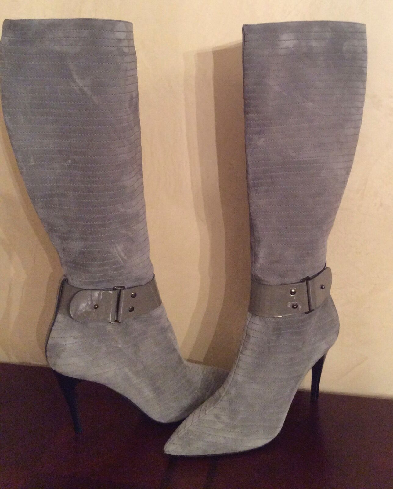 NEW Bruno Magli ITALY Suede Boots 10/40