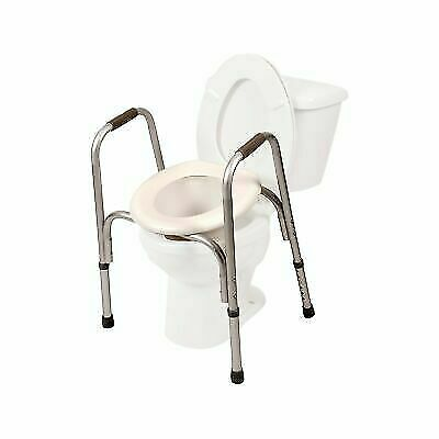 2 In 1 Toilet Seat.Pcp Raised Toilet Seat With Safety Frame 2 In 1 With Adjustable Rise Height For Sale Online Ebay