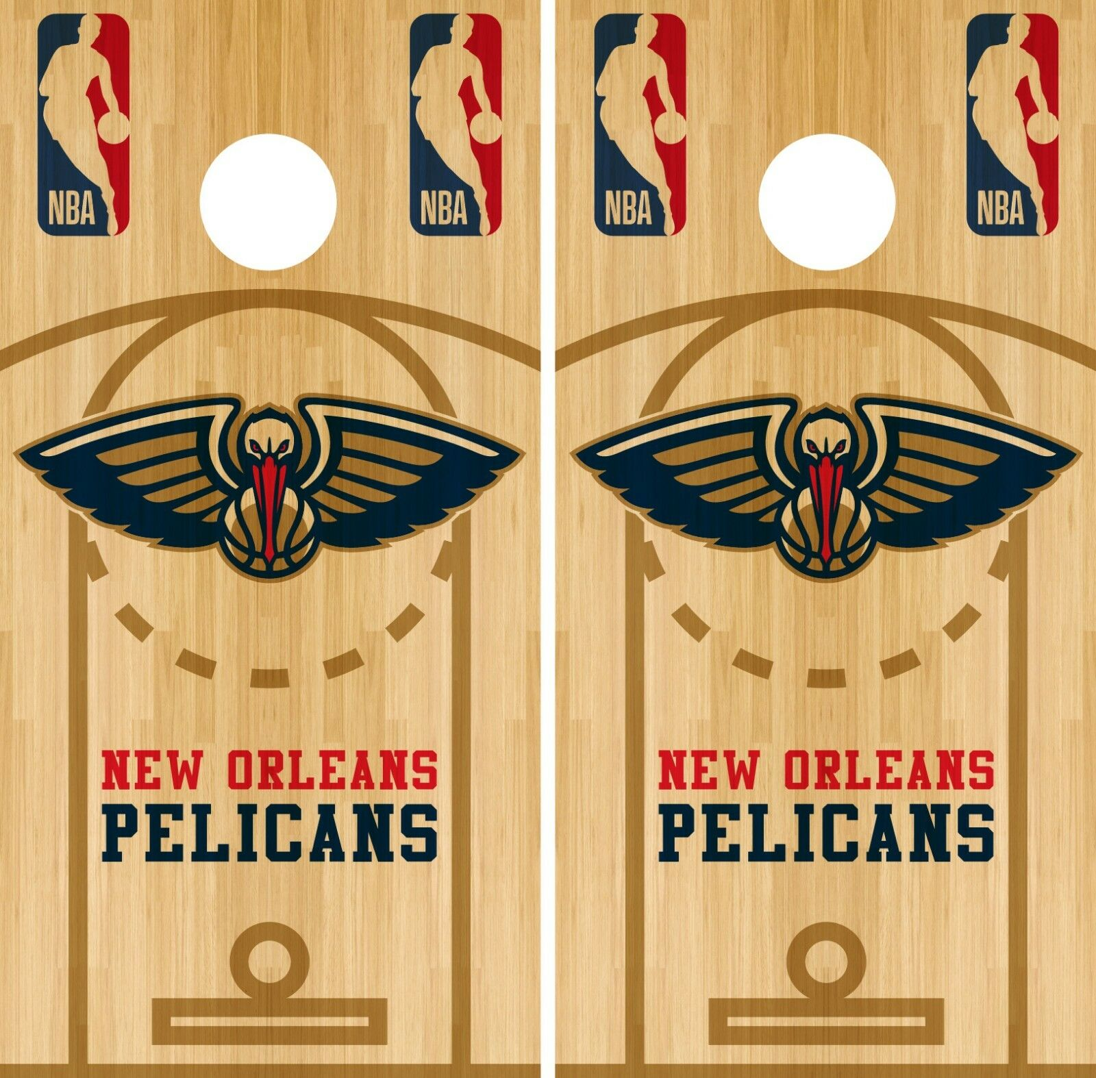 New Orleans Pelicans Cornhole Wrap NBA Court Game Skin Set Vinyl Decal CO662