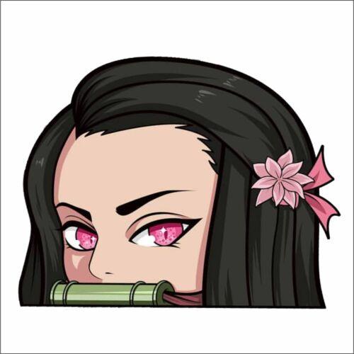 Nezuko Kamado #3 Peeker Peeking Window Vinyl Decal Anime Sticker Demon Slayer