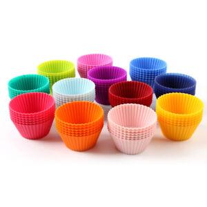 12STK-Muffin-Formchen-Muffinform-Back-Formchen-Silikon-Cup-Cake-Kuchen-Set-FL