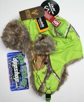 Med Real Tree Camo Bomber Insulated Hat Hot Shot Stocking Cap Trapper Beanie