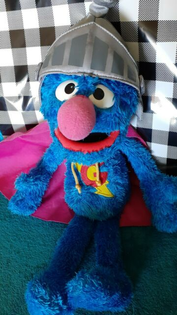 SUPER GROVER 2010 Hasbro Sesame Street Plush Interactive Talking Toy 15""