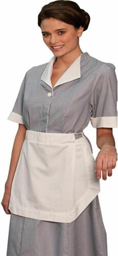 Details about  /NWT EDWARDS GARMENT JR CORD HOUSEKEEPING DRESS DARK GREY W// APRON SIZE 22-26