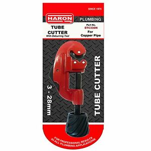 Haron-TUBE-CUTTER-3-28mm-Copper-Pipes-Swivel-Handle-amp-Spare-Wheel-Aust-Brand