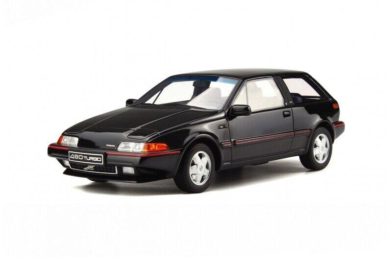 Volvo 480 Turbo 3-Door Hatchback Black NedCar Born 1989 Otto Mobile OT740