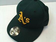 NEW New Era Oakland Athletics MLB Authentic Baseball Cap Hat WOOL Size 6 5/8