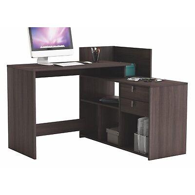 Mesa de escritorio, ordenador o estudio roble vulcano 121cm para rincon