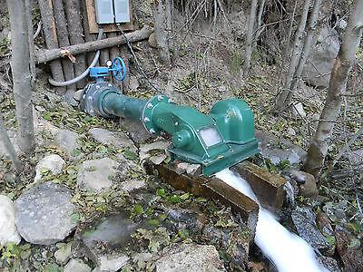 Water Powered Cross Flow Turbine Generator low head stream hydro electric pelton