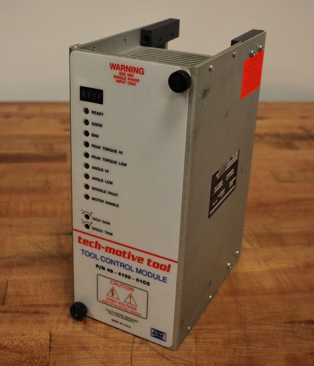 Tech-motive tool 49-4100-01C5, Tool Control Module, REV  B, 230vac - 49410001C5