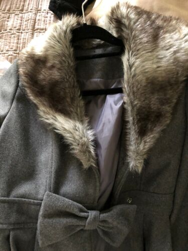 Grå Kvinder Vinter Large Frakke Størrelse Brugt F6vRqwva1