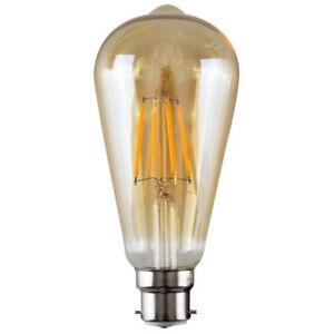 Vintage-Industrial-Filament-Ampoule-Lampes-Cage-Edison-E27-Amber-Pear-vente