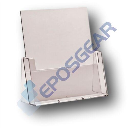 A4 A5 DL Trifold A6 Leaflet Menu Brochure Holder Dispenser Retail Display Stands