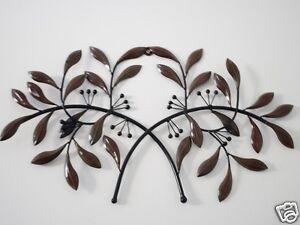 metal wall mural art decor olive leaf grill a 62cm ebay. Black Bedroom Furniture Sets. Home Design Ideas