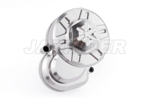 Jazrider Aluminum Spur Gear Case Cover Silver For Axial AX10//Wraith//SCX10