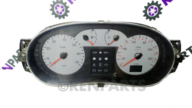 Renault Clio II PH2 2001-2006 1.6 16v Speedo Speedometer Silver Dash 8200059782