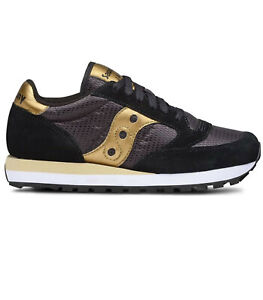 SCARPE SAUCONY DONNA JAZZ ORIGINAL S1044-521 BLACK GOLD NERO ORO