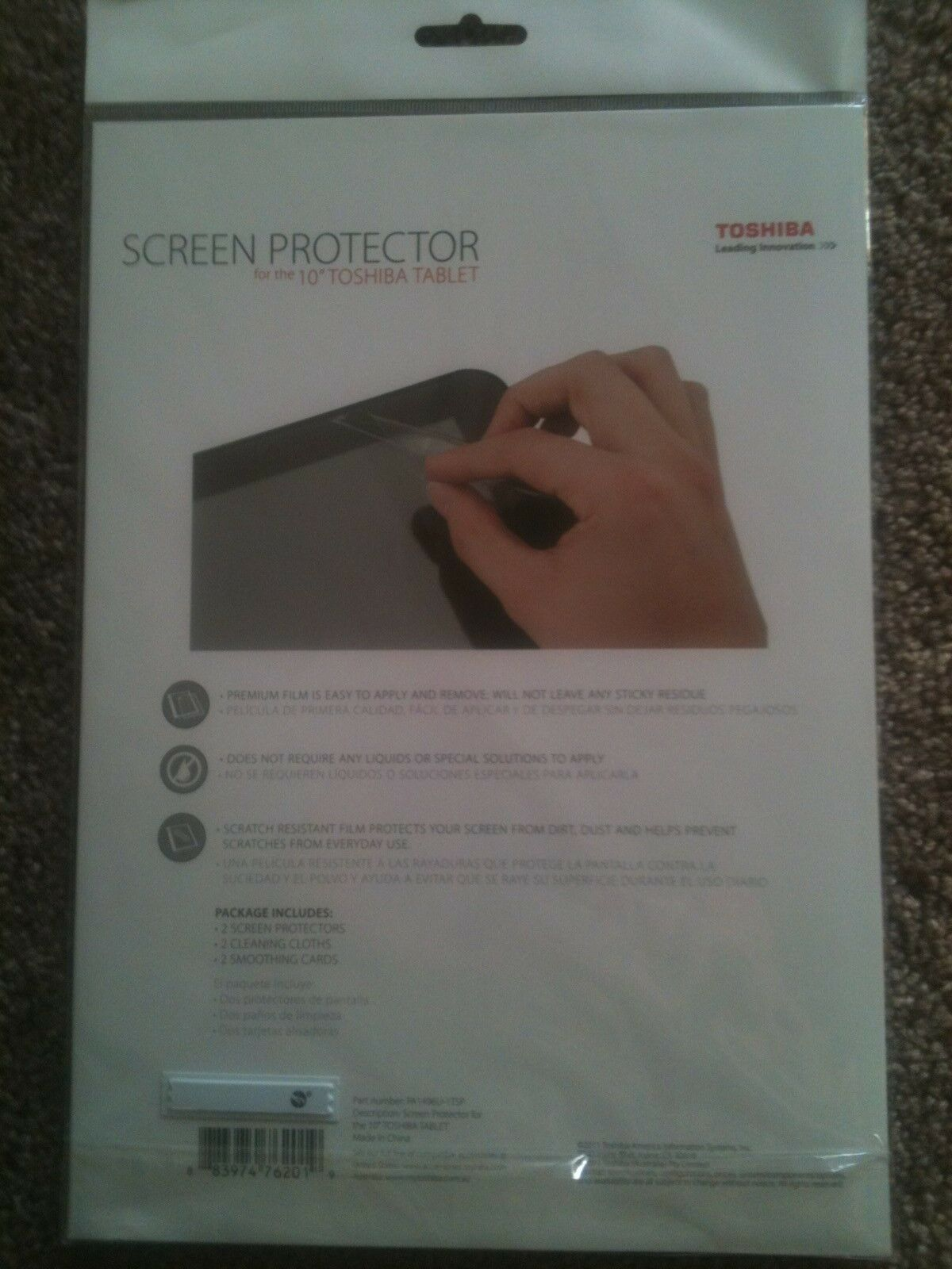 2 PACK 10 INCH TOSHIBA THRIVE TABLET ANTI-SCRATCH SCREEN PROTECTORS PA1496U-1TSP