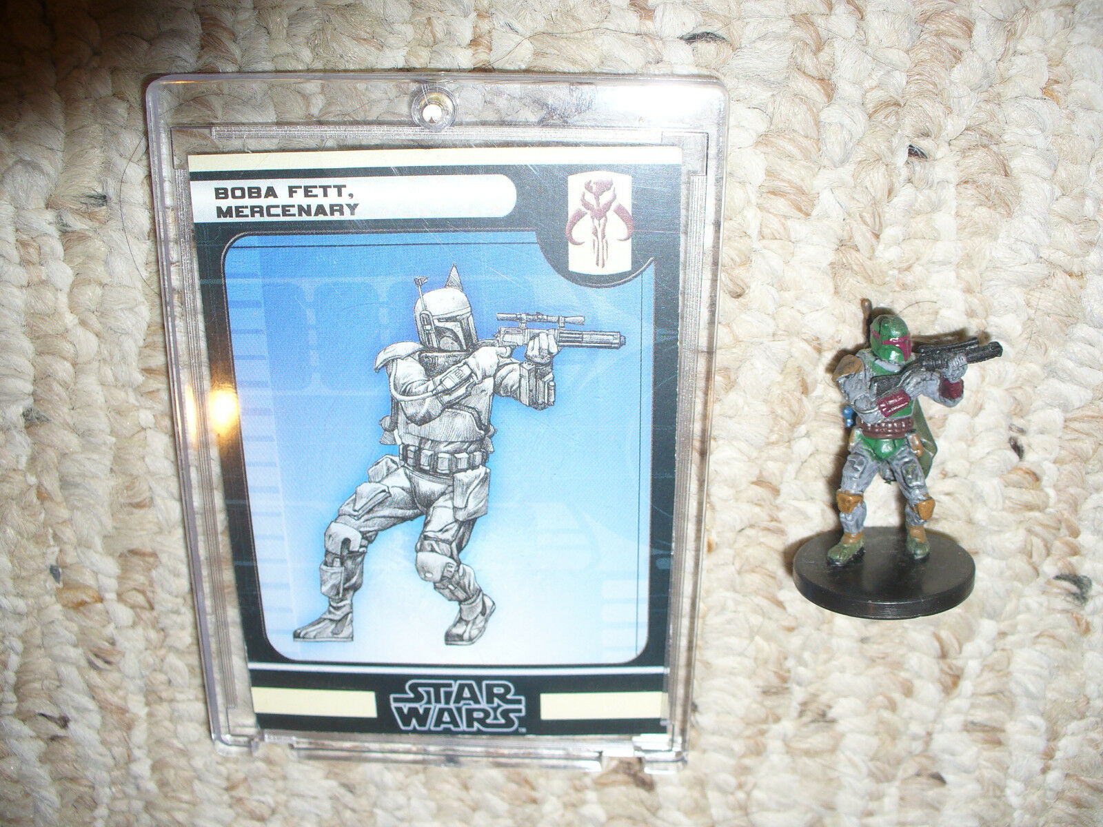 Star Wars Miniatures Game Piece & Card, Boba Fett Mercenary   47 / 60  Fringe 58