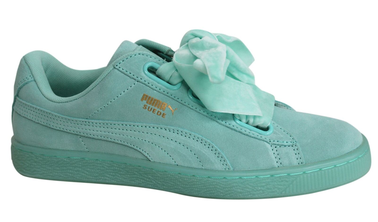 Détails sur Puma Suede Heart Reset Lace Up Aruba Blue Leather Womens Trainers 363229 01 d83 afficher le titre d'origine