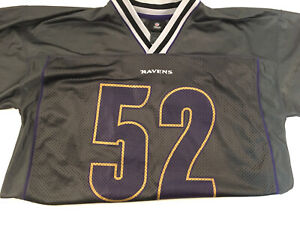 Details about NFL Baltimore Ravens #52 R LEWIS Football Jersey Size Xl