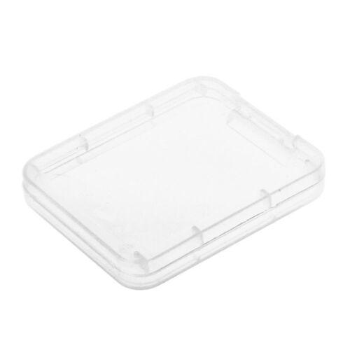 10x Plastik Speicherkarten Card Box Huelle SD SDHC XD MMC CF Aufbewahrungsb F3B3