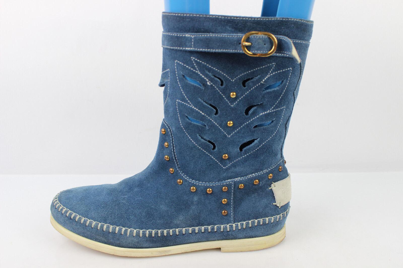 Stiefletten t PATRIZIA PEPE Wildleder blau t Stiefletten 36 sehr guter Zustand c15fca