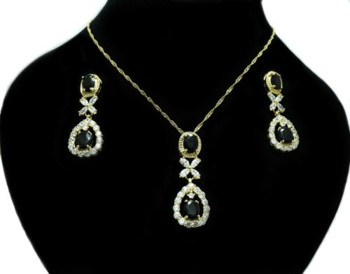 Señoras Boda Nupcial Fiesta Baile de graduación joyas distintivo collar y pendiente conjunto
