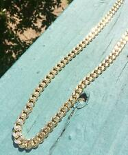 Exclusive Mens Gold Cuban Link Gold Chain Necklace With Diamond Cuts