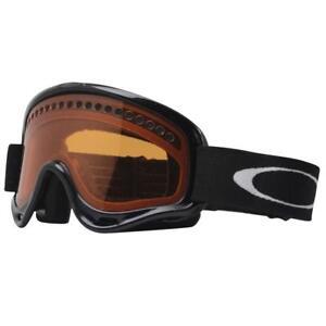 Oakley 02-492 XS O FRAME Jet Black w/ Persimmon Lens Kids Youth Snow Ski Goggles