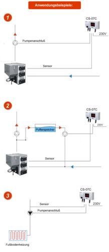 Regelgerät CS-07C Steuerung für Pumpe der Fußbodenheizung oder als Thermostat