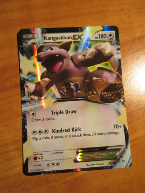 Kangaskhan EX 78 106 XY Flashfire Ultra RARE Holo Pokemon Card