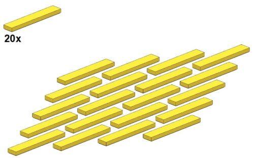 Yellow 20Stk 6636-03 1x6 Smooth Parts Gelb - Fliese LEGO®