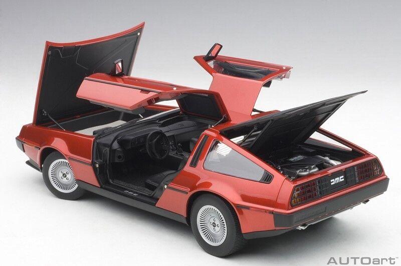 Autoart DELOREAN DMC-12 METALLIC RED 1981 Composite model in 1 18 Scale New