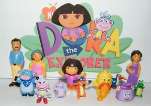 Nickelodeon-Dora-The-Explorer-Figure-Set-of-12-with-Family-and-Friends