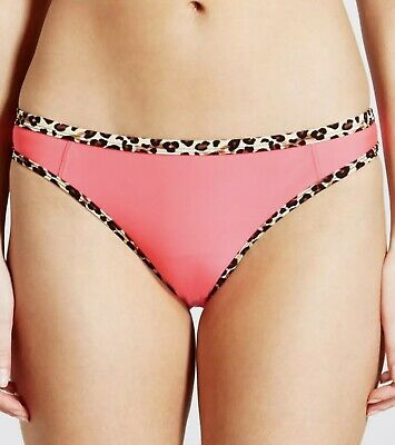 Ex M /& S Swimwear Bikini Bottoms Chocolate Print Tie Side Sizes 10 12 16 18 20