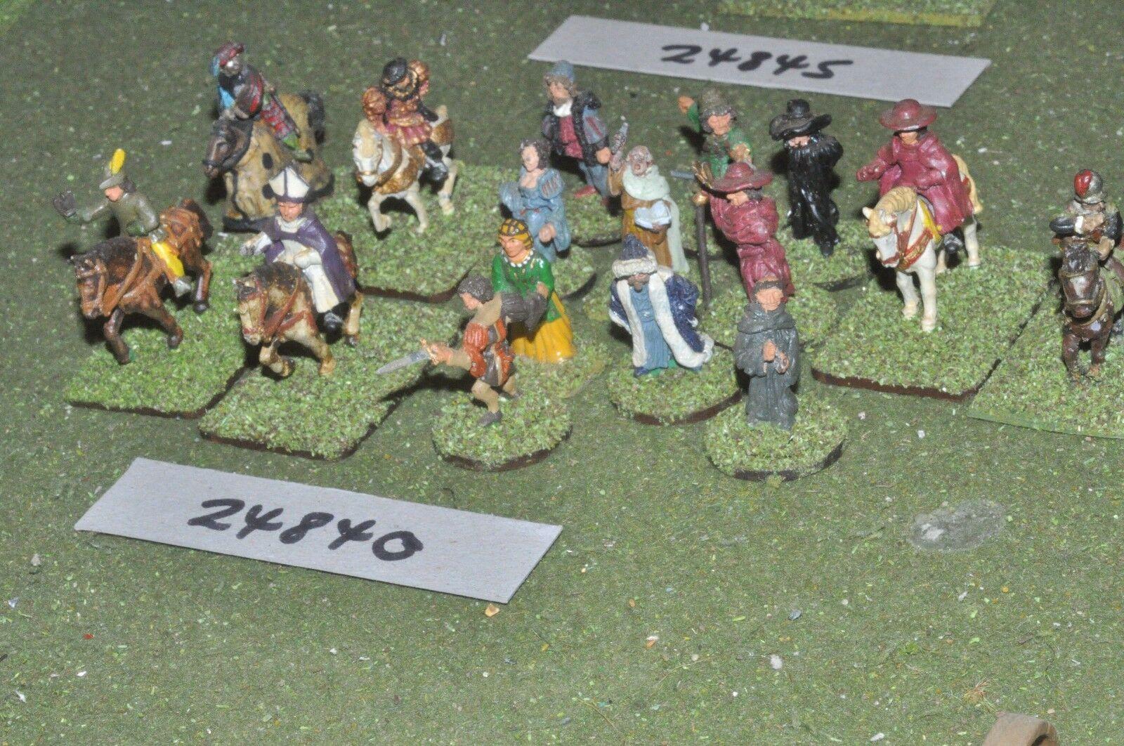 25mm renaissance   english - characters & civilians 16 figures - inf (24840)