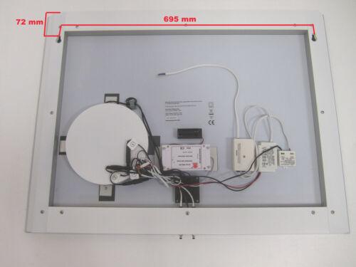 LED Beleuchtung Kalt weiß licht Badezimmer spiegel mit Uhr Schminkspiegel 80cm