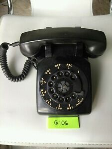 Western-Electric-Black-Rotary-Dial-Telephone-Works