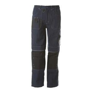 Pantalone-Dakar-JRC-multitasche-lavoro-blu-tg-M-meccanico-idraulico