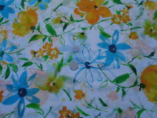 Italian Cotton & Silk Voile 100%, 'Blue Delight', (per metre) dress fabric